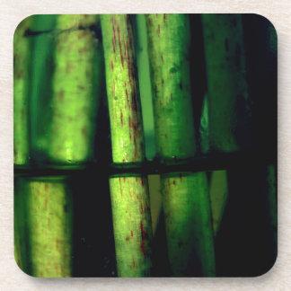 Green macro drink coasters