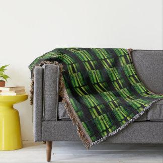 Green macro throw blanket