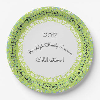 GREEN-MAGICAL-FLORAL-CELEBRATIONS-_FULL-Template 9 Inch Paper Plate