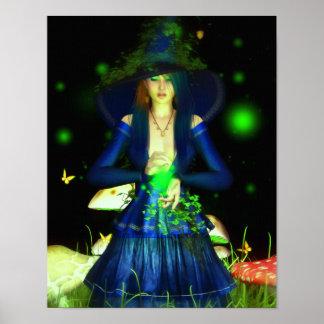 Green Magick Canvas/Poster Print