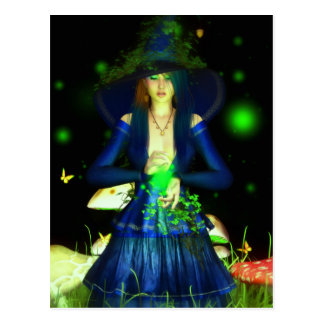 Green Magick Postcard