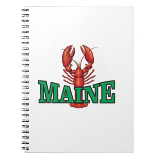green Maine lobster Notebooks