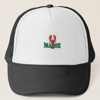 green Maine lobster Trucker Hat