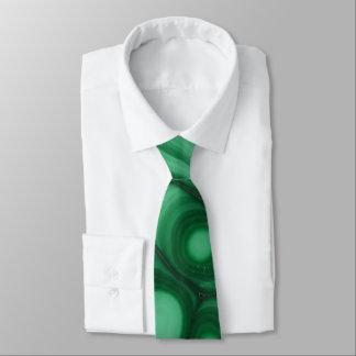 Green Malachite Stone Image Tie