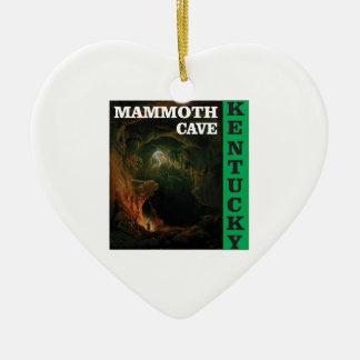 Green mammoth cave Kentucky Ceramic Ornament