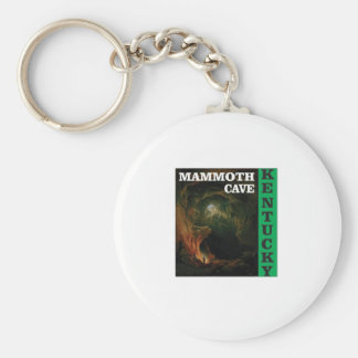 Green mammoth cave Kentucky Keychain