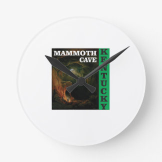 Green mammoth cave Kentucky Round Clock