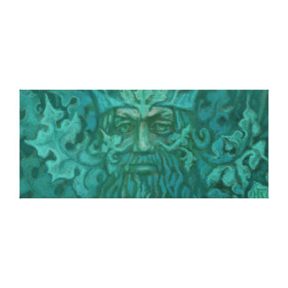 Green Man, Forest King Fantasy Art Pastel Painting Canvas Print