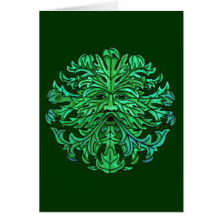 Green Man Gaze Card