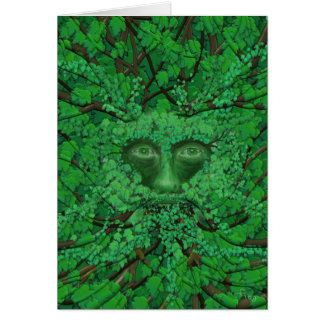Green Man Greetings card