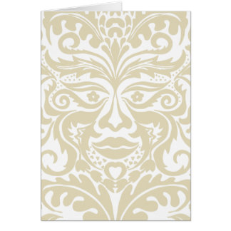 Green Man in natural white and stone Card