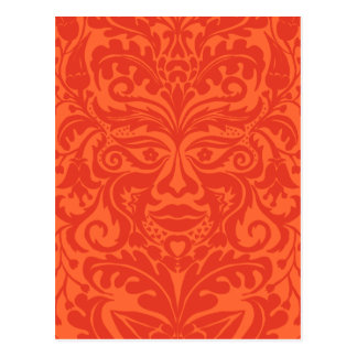 Green Man in Tangerine & Orange Postcard