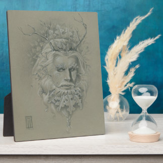 Green Man with Oak Leaf Beard Plaque