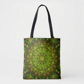 Green Mandala Art Tote Bag