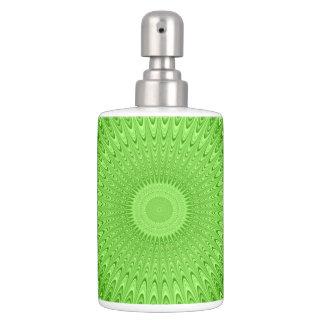 Green mandala bathroom sets
