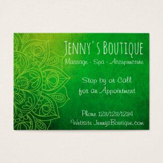 Green Mandala Classy Business Card