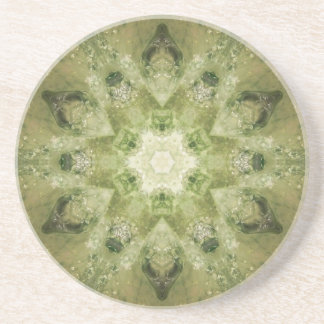 Green Mandala Coaster