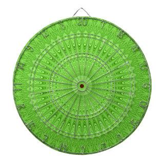 Green mandala dartboard