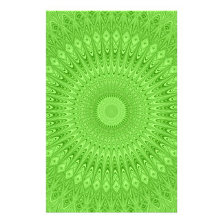 Green mandala flyer