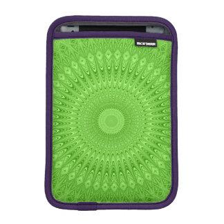 Green mandala iPad mini sleeve