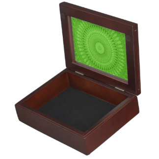 Green mandala keepsake box