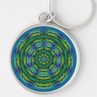 Green Mandala Keychain