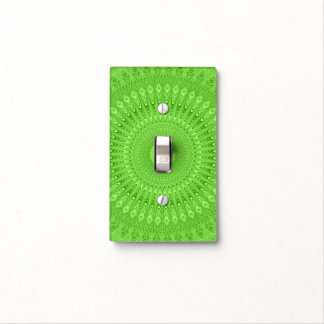 Green mandala light switch cover