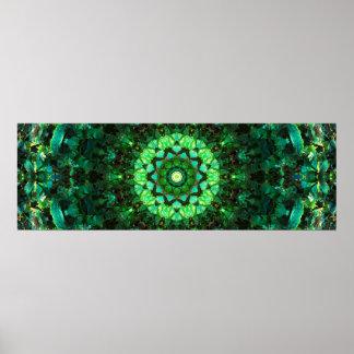 Green Mandala Mosaïc Poster
