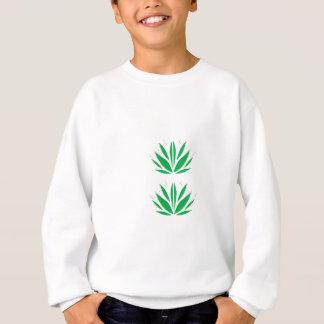Green mandala  on white sweatshirt