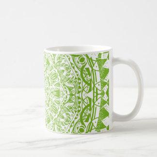 Green Mandala Pattern Coffee Mug
