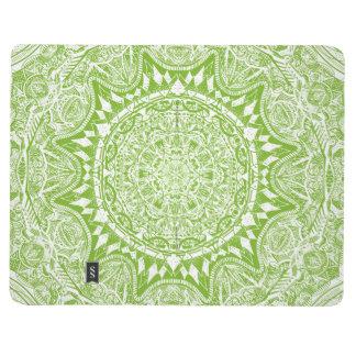 Green Mandala Pattern Journal