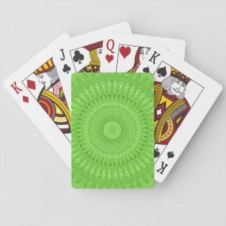 Green mandala poker deck