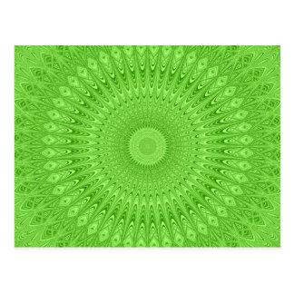 Green mandala postcard