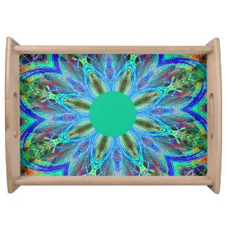 Green Mandala Serving Tray