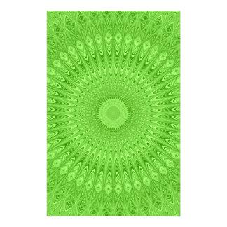 Green mandala stationery