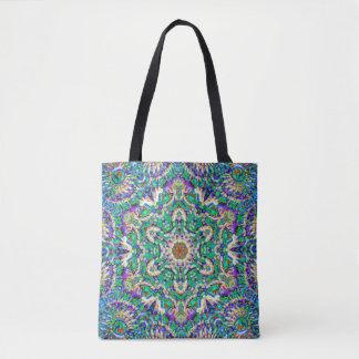 """Green Mandala"" v2 Tote/Shoulder Bag:choose style Tote Bag"