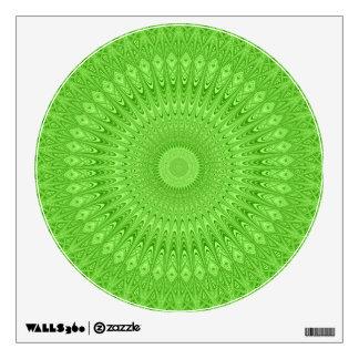 Green mandala wall decal