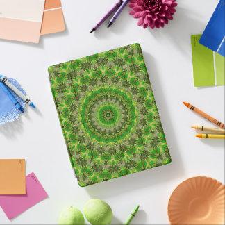Green Mandala Wheel... iPad Cover
