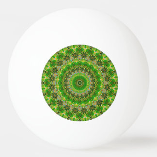 Green Mandala Wheel... Ping Pong Ball