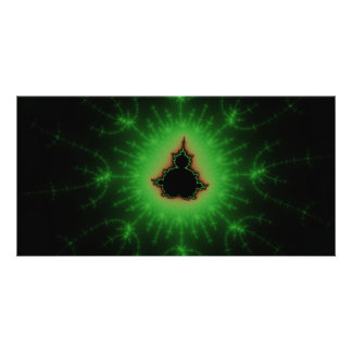 Green Mandelbrot Set Photo Cards