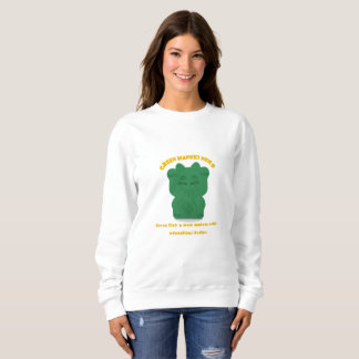 Green Maneki Neko Both Paws NEW Sweatshirt