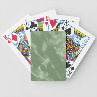 Green Marble Bicycle Playing Cards
