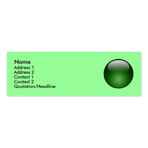 Green Marble Card Business Card Templates