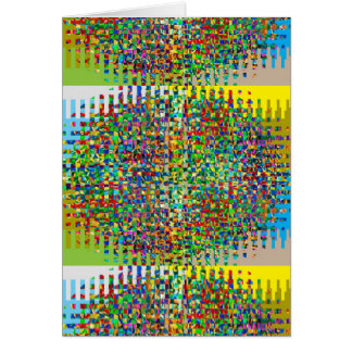 GREEN Marble Checks Graphic Creation Card