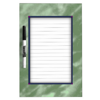 Green Marble Dry Erase Board