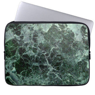 Green marble laptop case