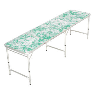 Green Marble Mesh Beer Pong Table