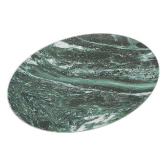 Green Marble Stone Texture Emerald Melamine Plate