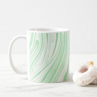 Green Marble Swirls Marbled Marbling Lines Coffee Mug