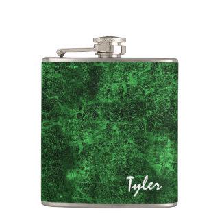 GREEN MARBLE Texture Custom Name Flask v13